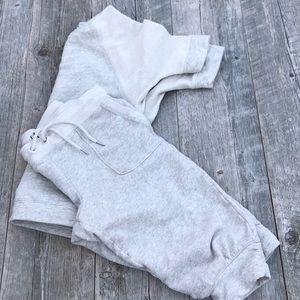 Calvin Kline Short Sweatshirt Cropped Jogger Set
